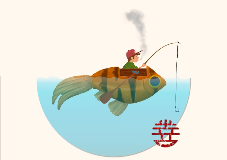 Dreams fish - illustration#digitalart#design#characterdesign#photoshop#painting#davisvrworks#drawing#conceptart - greenstach | ello