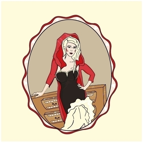 Red Riding Hood - illustration, woman - ancaavram18 | ello