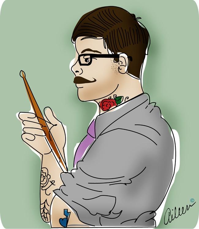 illustration, portrait, drawing - aileencopyright   ello