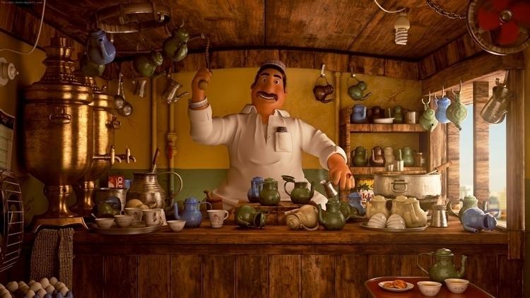 Tea Stall Art - characterdesign - farrukh-1236 | ello