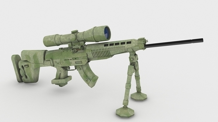 design, gameart, 3d, weapon, sniper - 3donomer | ello