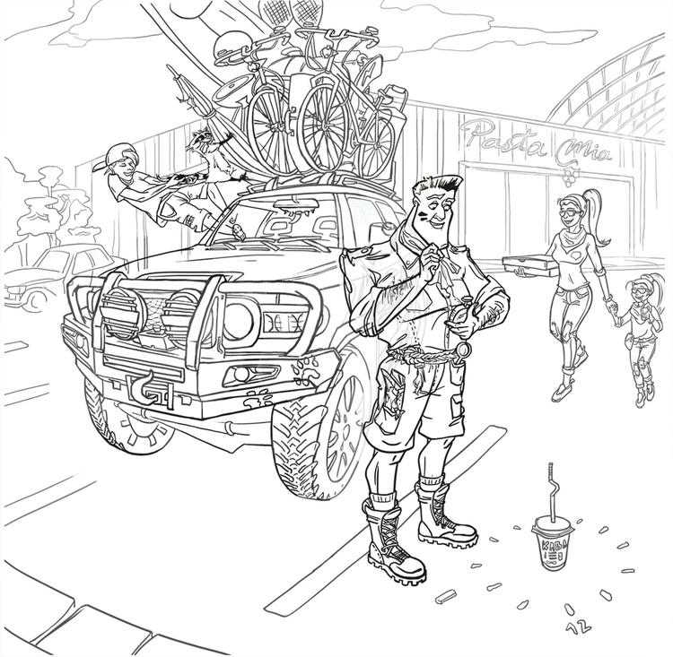 lineart, sketch, characterdesign - natalytsiapalo | ello
