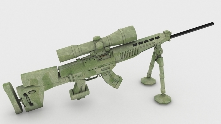 design, gameart, 3d, sniper, weapon - 3donomer | ello
