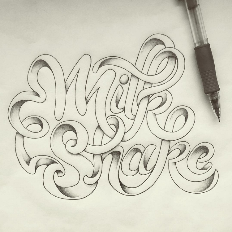 Milk Shake - milkshake, typography - marketa_konta | ello