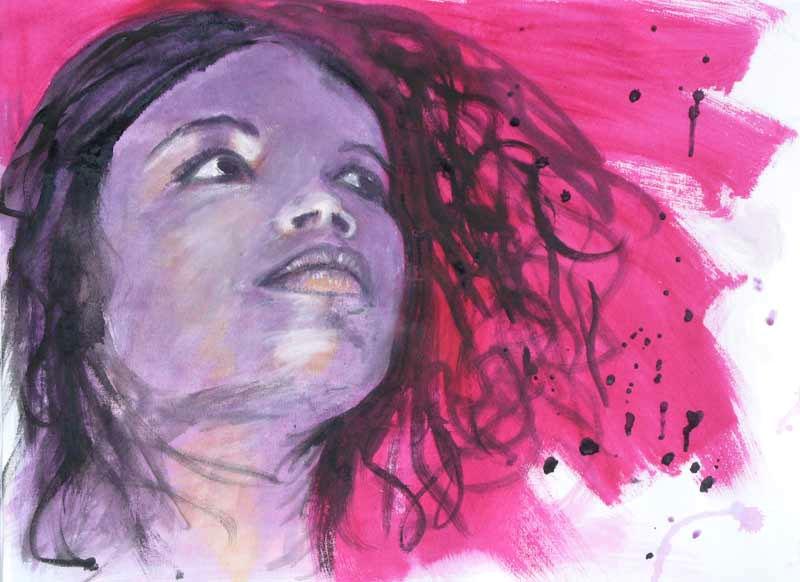 Lilith 40x65 cm acrylic canvas - tizianagiammetta | ello