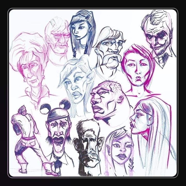 fun sketchbook - davidkelmer, prismacolorpencils - dkelmer | ello