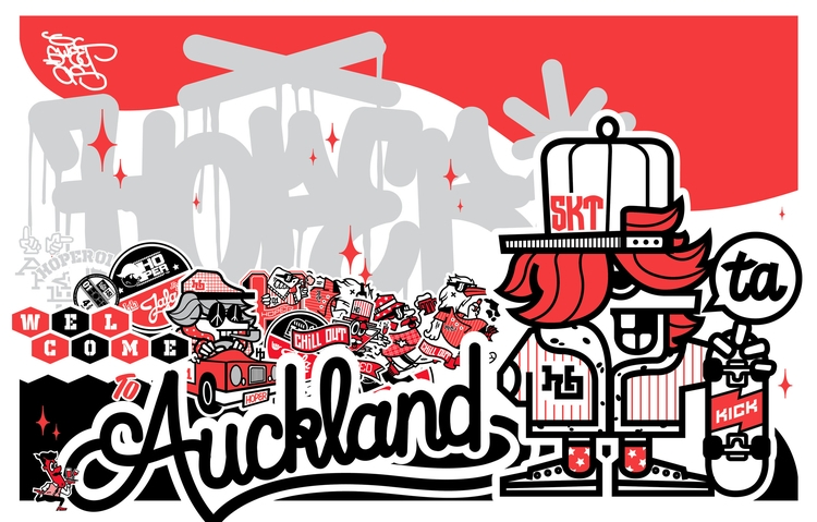 akl poster - illustration, red, graphicdesign - hoper420 | ello