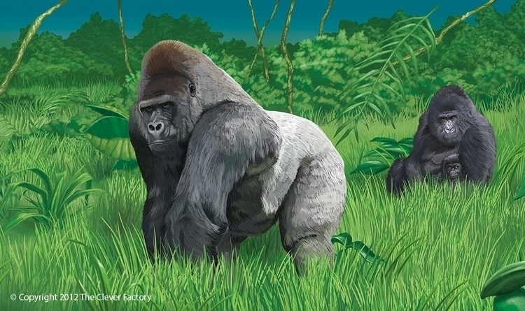 Gorilla illustration Clever Fac - kerseygraphics | ello
