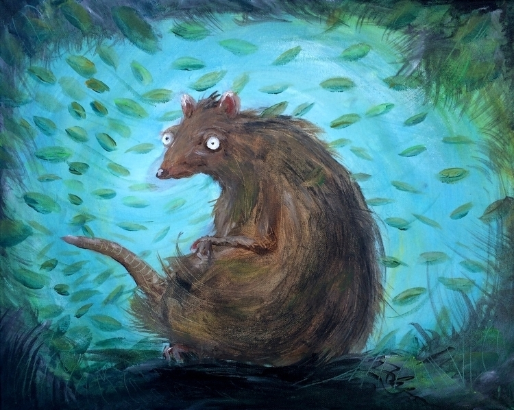Rat - painting, rat - rutgervandeelen | ello