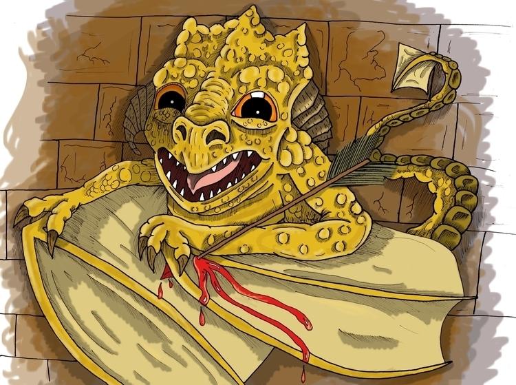 illustration, digitalart, dragon - kylefinnerty | ello