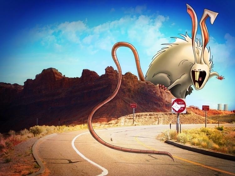 Utah Rabbit - illustration, cartoon - jansengefert   ello