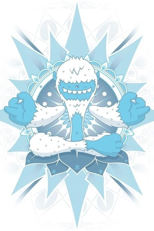 coolest Snowman - blue, white, vectorart - profeta999 | ello