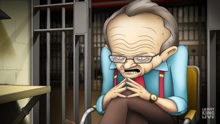 Larry King - Prison - illustration - jansengefert | ello