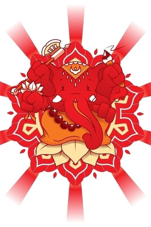 Divine Friend - vector, ganesha - profeta999 | ello