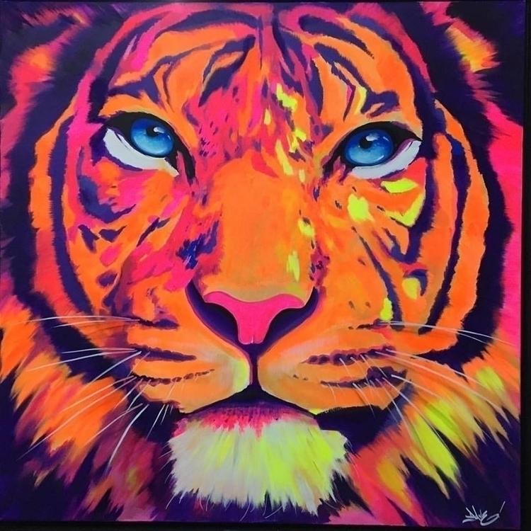 Tiger ZohArt acrylique sur toil - davebaranes | ello