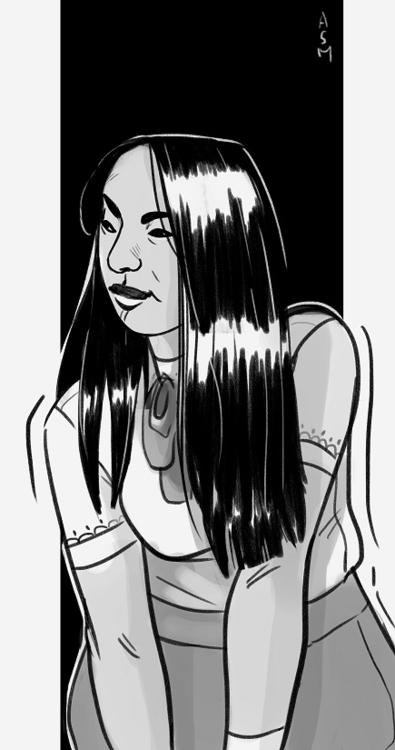 girl sketch - illustration, sketchbook - asmarts | ello