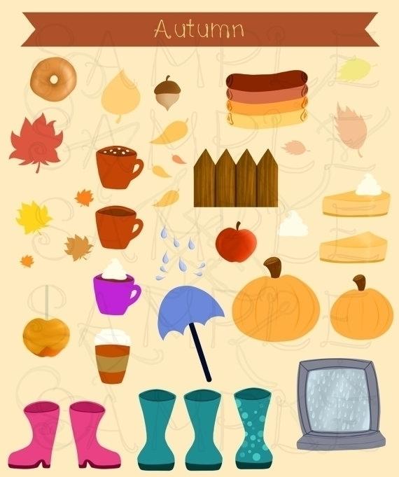 Autumn Clip Art - clipart, cliparts - bridgetpavalow | ello