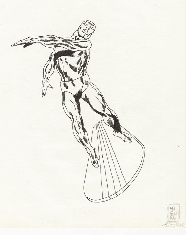 Silver Surfer - illustration, drawing - miguelcoelho | ello