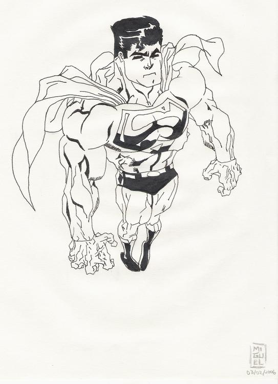 Superman - illustration, drawing - miguelcoelho | ello