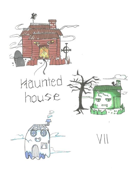 07 Haunted House - illustration - hotshots2000 | ello