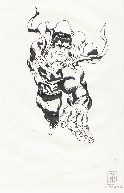 Superman - illustration, drawing - miguelcoelho   ello