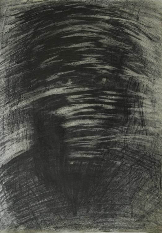 ,,?ovek bez lica''; graphite pa - ivanmitic   ello