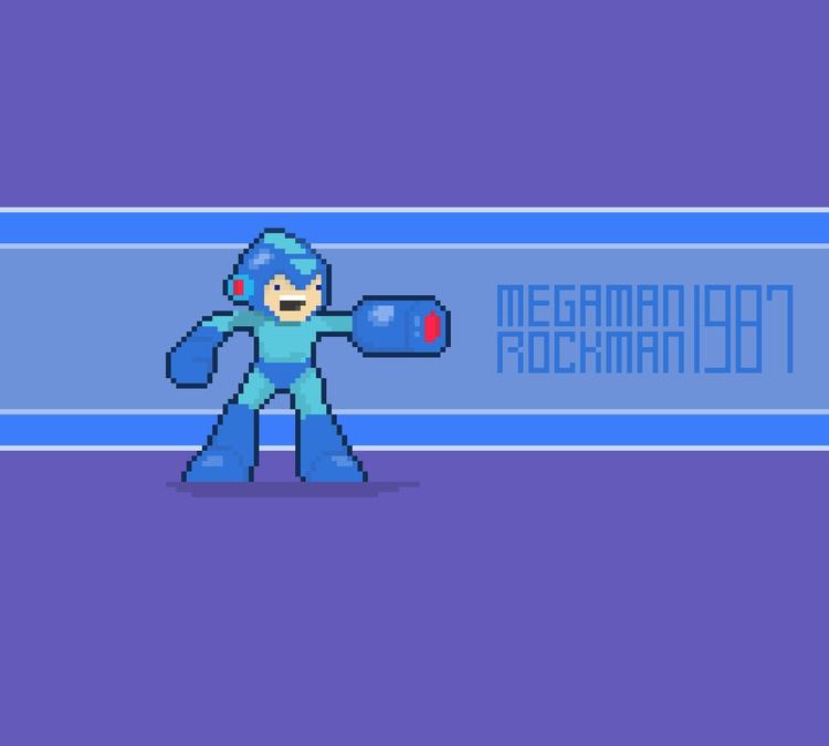 Megaman - pixelart, megaman, gamedev - planckpixels | ello