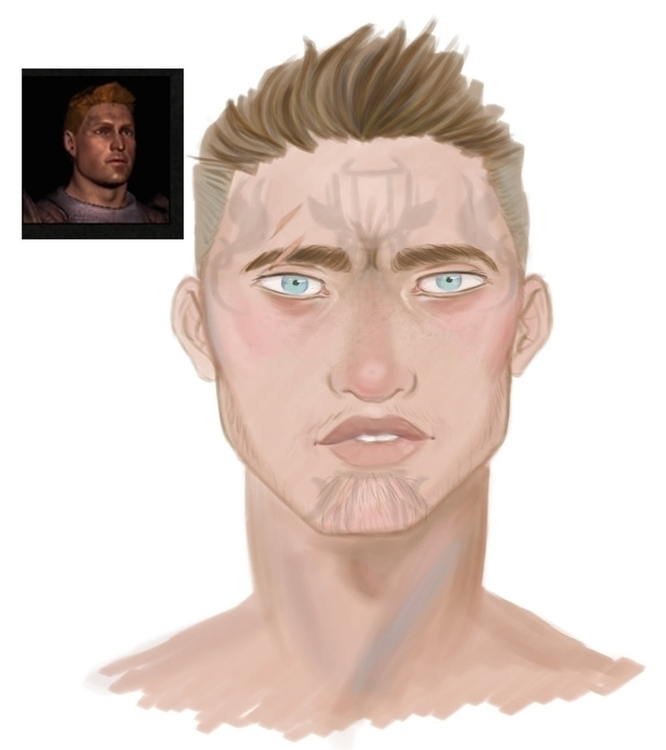 Uriah Cousland - dragonage, portrait - toyhenoctus | ello