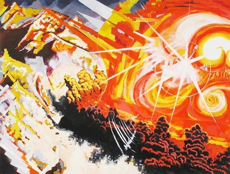 Trinity - fire, bomb, painting - mab-3070   ello