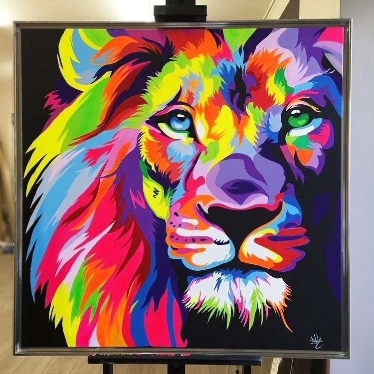 Lion fullcolor acrylique 1M/1M  - davebaranes | ello