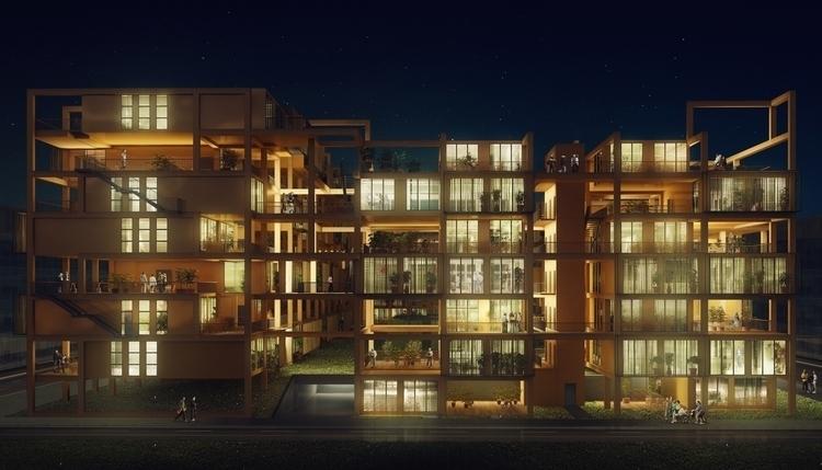 Night view proposed Molewa city - editstudio | ello