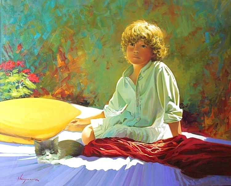 Jose friend - painting, realism - josehiguera | ello
