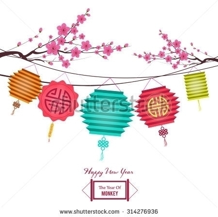 Chinese year background lantern - ngocdai86 | ello