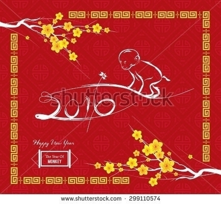 Monkey design Chinese Year cele - ngocdai86 | ello