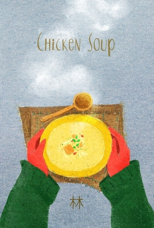 Illustration card healthy food  - xxxsai | ello