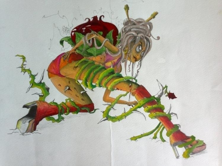 Rose + Prostitute zombie - illustration - tmc-9567 | ello