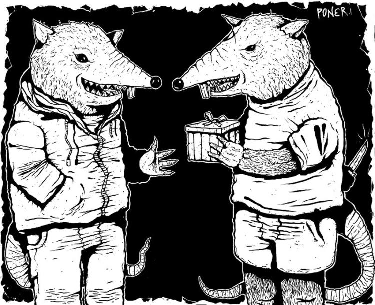 illustration, black, digitalart - poner | ello
