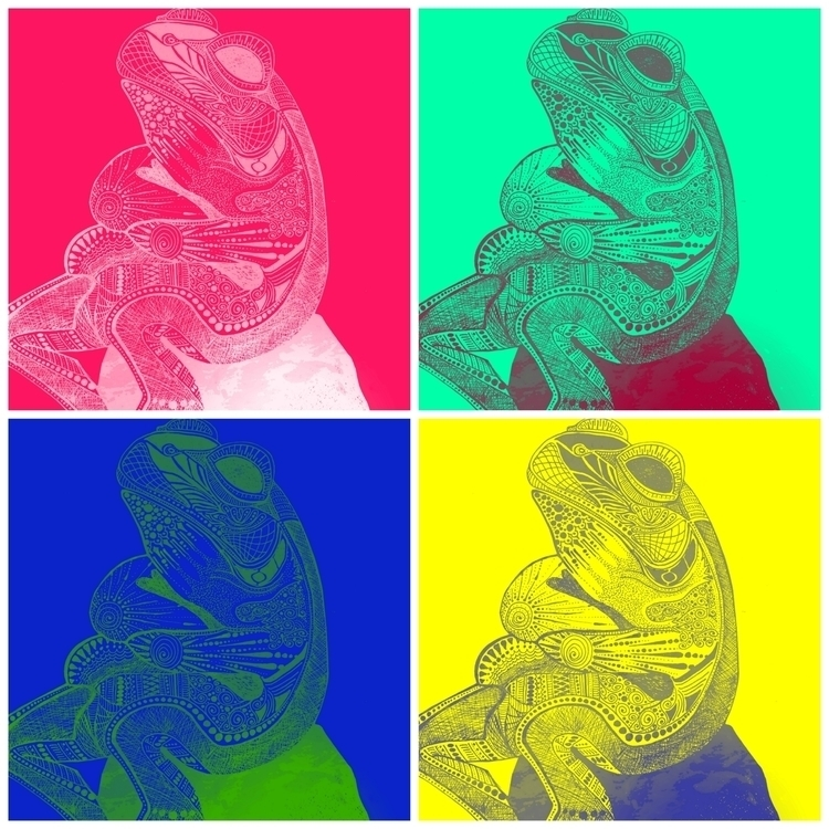 Chilling Froggy, Pop Art - doodle - allyparsons | ello