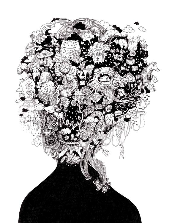 Face Imaginatium - drawing, illustration - gingerrred | ello