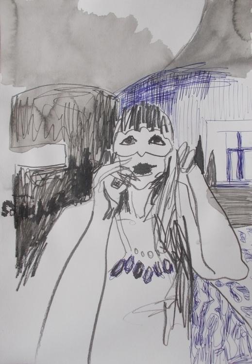 ,,Maskenbal''; hemijska olovka - ivanmitic | ello