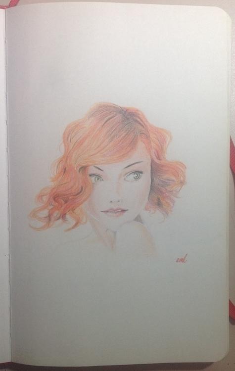 redhead, sketch, doodle, portrait - emarchena   ello