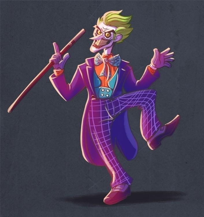 Joker - illustration, painting, characterdesign - michelverdu | ello