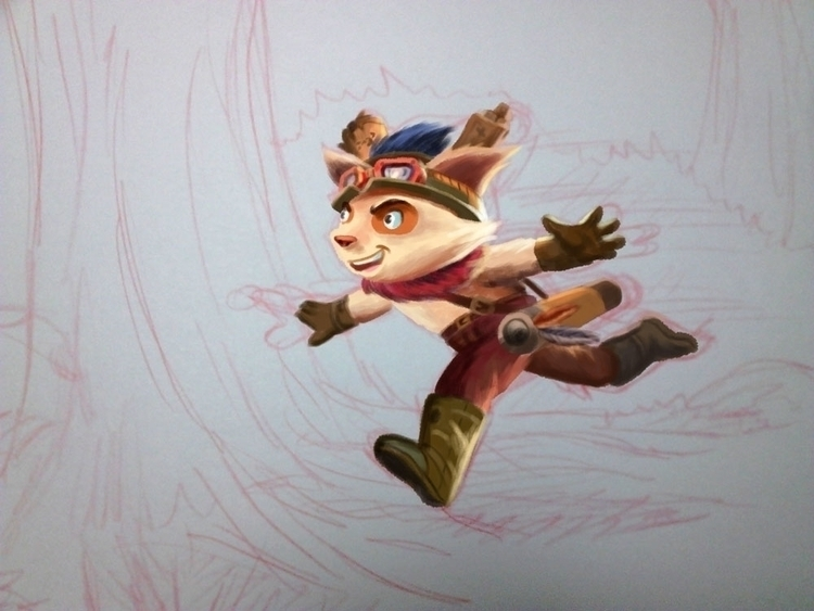 Work progress fanart - teemo, leagueoflegends - fdrawer | ello