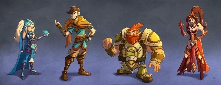 Fantasy Characters - illustration - michelverdu   ello