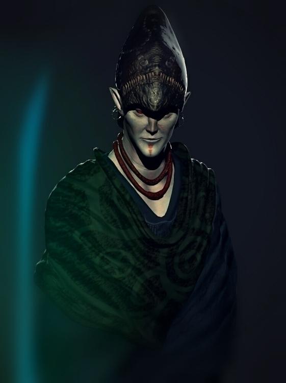 Morrowind (Tribute - gameart, 3d - kimkiao | ello