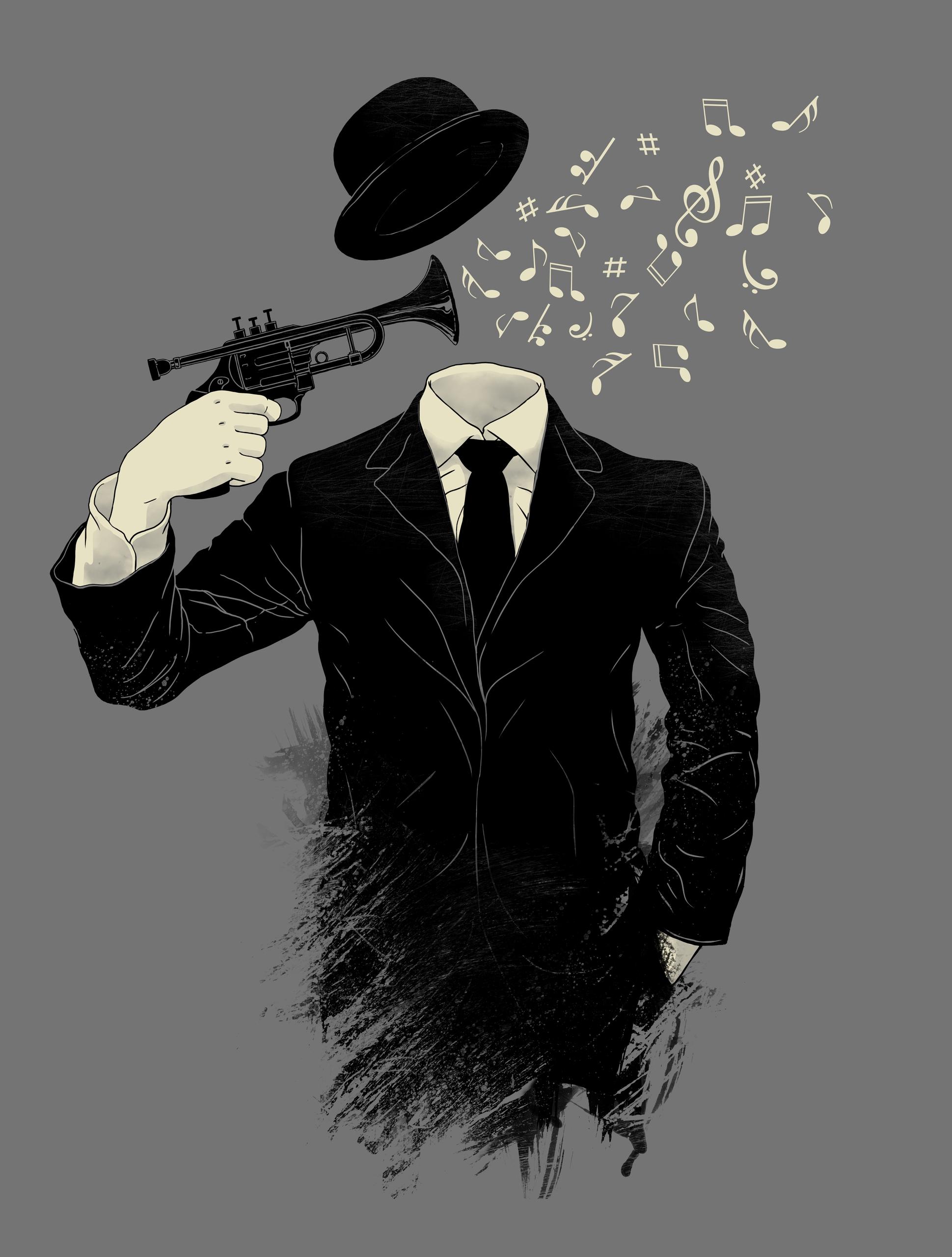 Blown - music, trumpet, gun, musicalnotes - angrymonk | ello