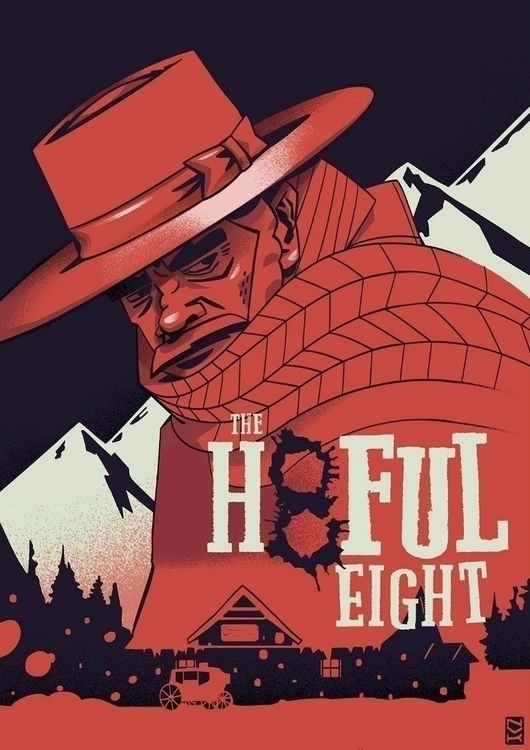 hateful - illustration, poster, character - foxhideblog | ello