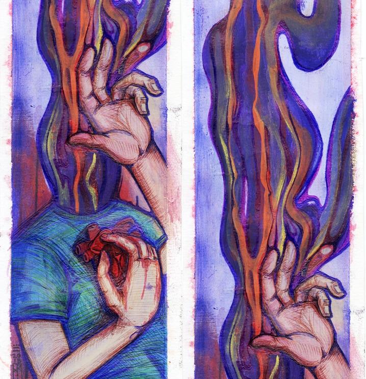 pensamiento saturado - illustration - xochikalli | ello