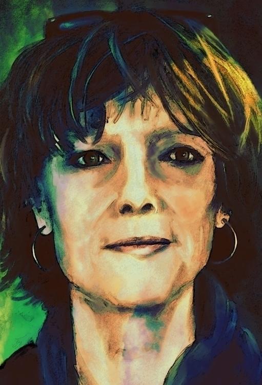 selfportrait - painting - marjon-4891 | ello