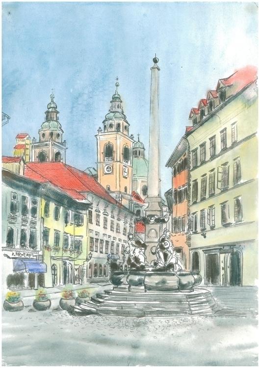 Ljubljana - Francesco Fountain - markojezernik | ello